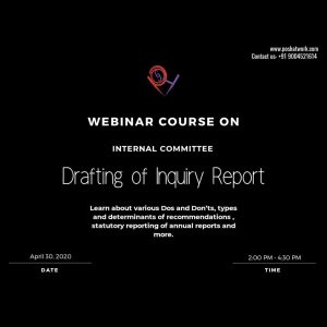 Drafting of Inquiry Report