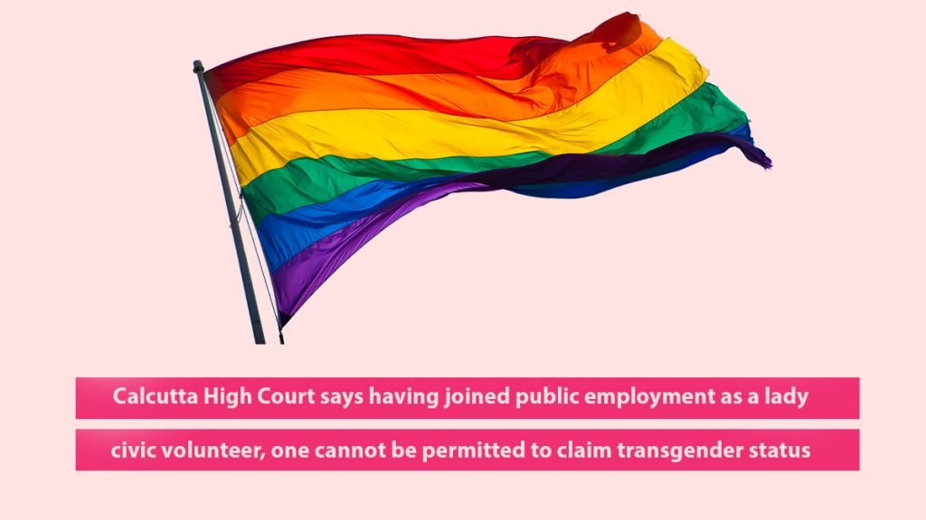 cannot be permitted to claim transgender status