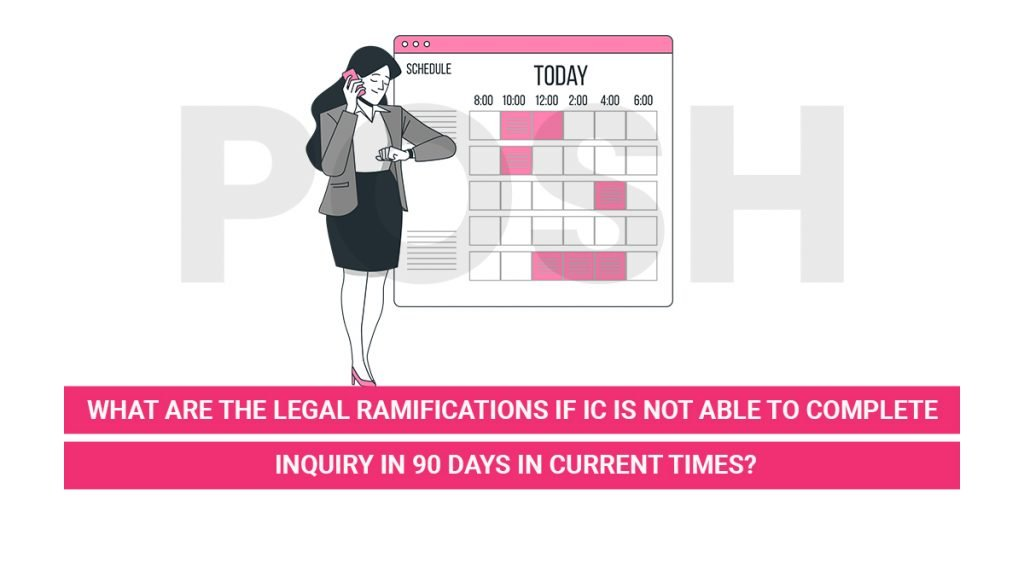 legal ramifications if IC is not able to complete inquiry in 90 days