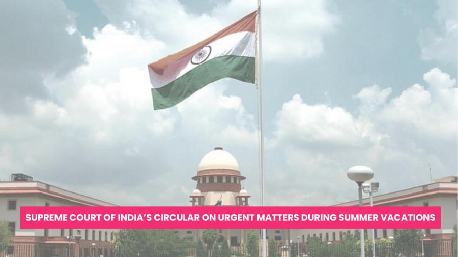 Supreme Court Circular on Urgent Matters